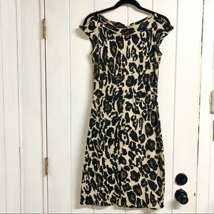 Diane Von Furstenburg Leopard Print Knit Dress